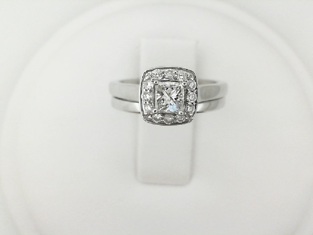 Ladies Diamond Engagement and Wedding Ring Set by Leddel