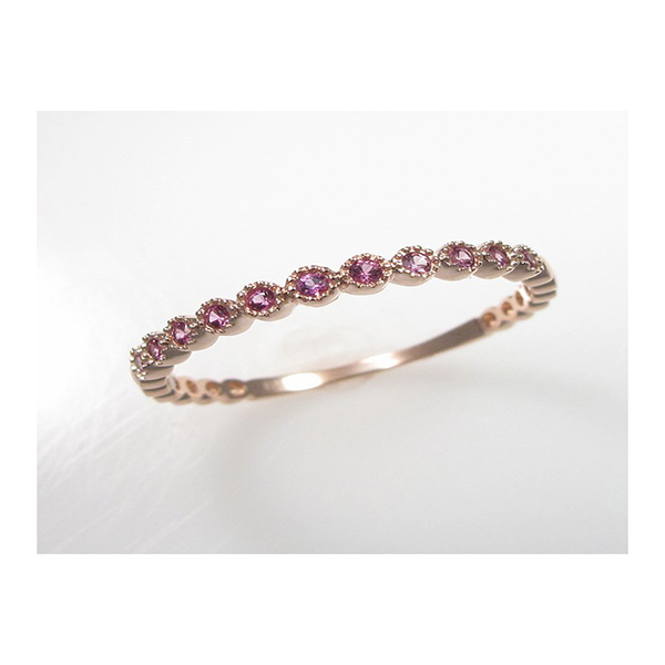Pink Sapphire Stackable Ring by Leddel