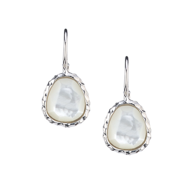 Frederic Duclos Mother of Pearl Earrings by Frederic Duclos