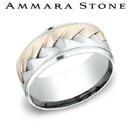 Ammara Stone -  Rose And White Gold Ring by Benchmark
