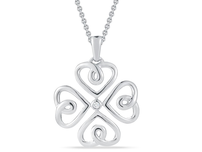 From The Heart Diamond Pendant Necklace by Stefano Bruni Designs