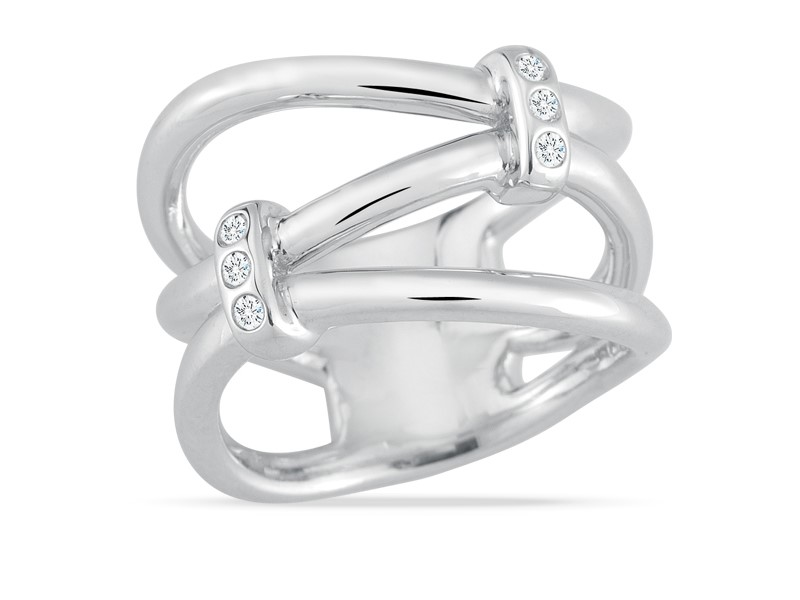 Chic Infusions Double Tie Diamond Ring by Stefano Bruni Designs