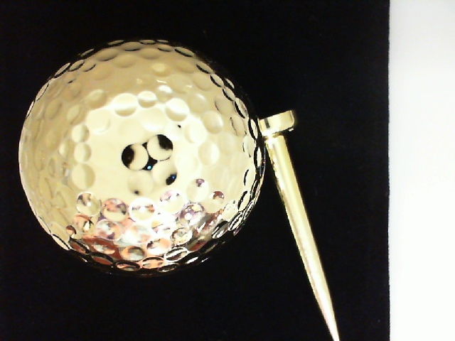 24 Karat Gold Plated  Golfball And Gold Tee by 24K Rose