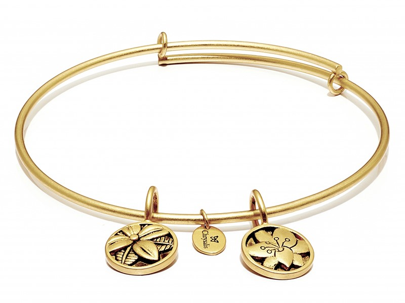 Blossom Expandable Bangle Yellow by Chrysalis