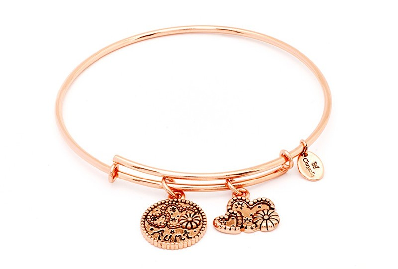 Aunt Expandable Bangle Rose by Chrysalis