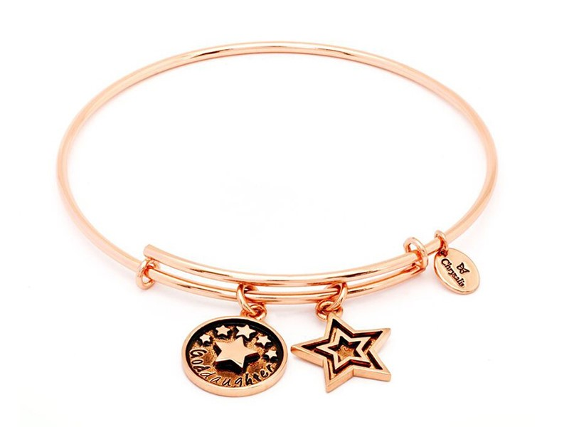 Goddaughter Expandable Bangle Rose by Chrysalis