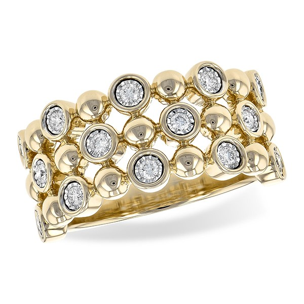 "Yellow Gold ""Bubble"" Ring by Allison Kaufman"