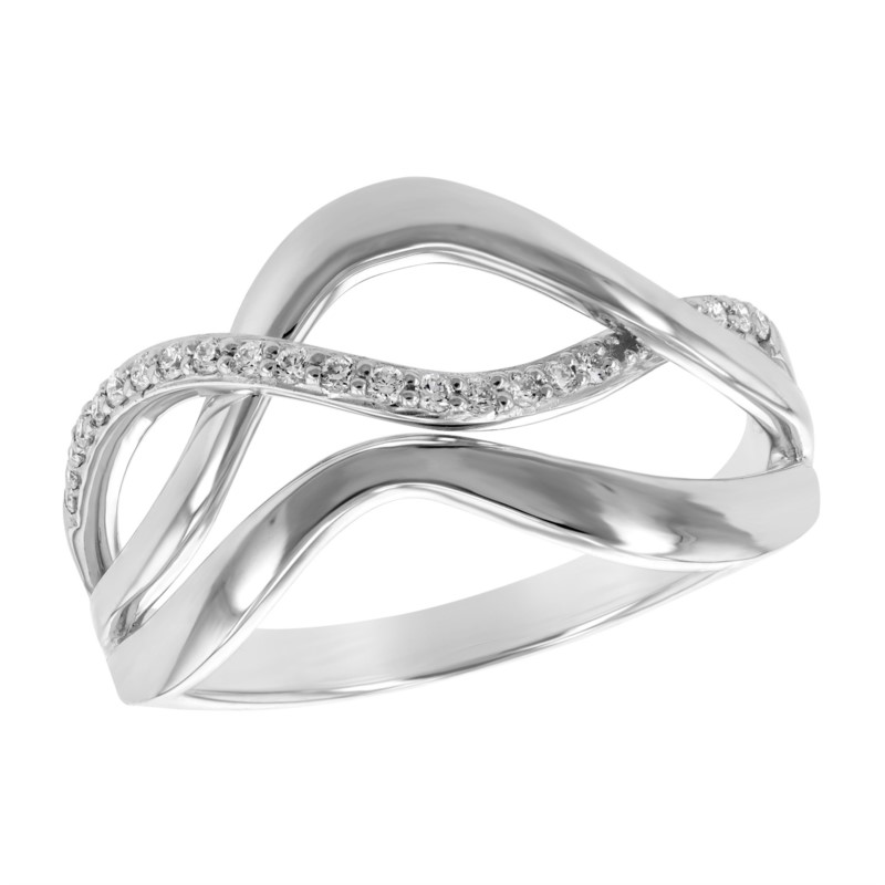 Curved Diamond Ring by Allison Kaufman