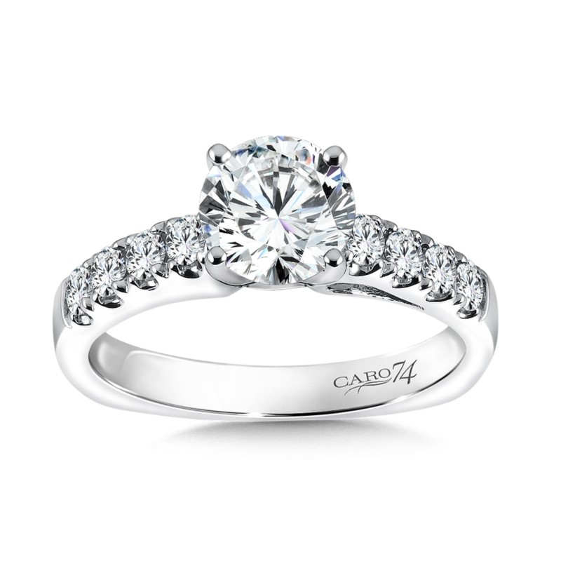 Caro74 Shared Prong Engagement Ring by Caro 74