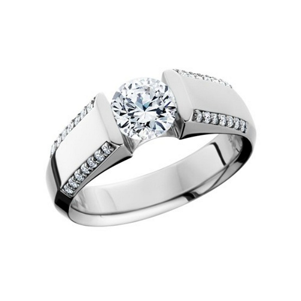 Contemporary Channel Set Diamond Ring by HL Manufacturing