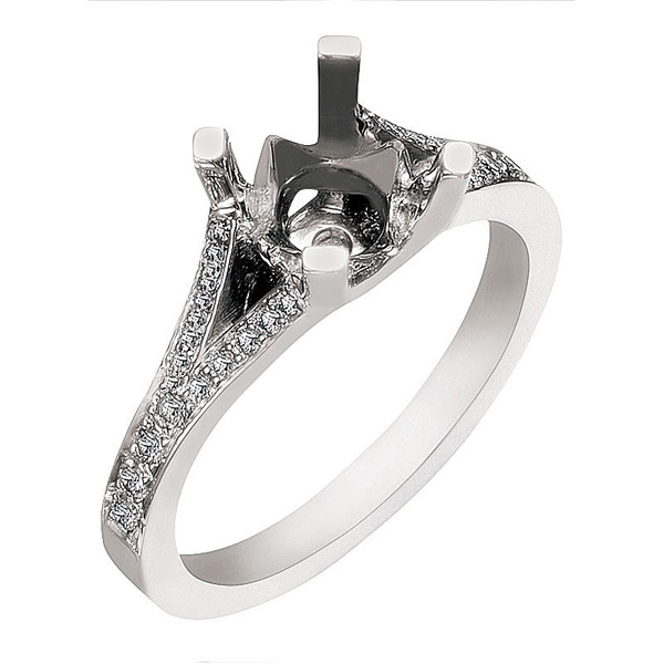 Cathedral Diamond Ring by Ancora Designs
