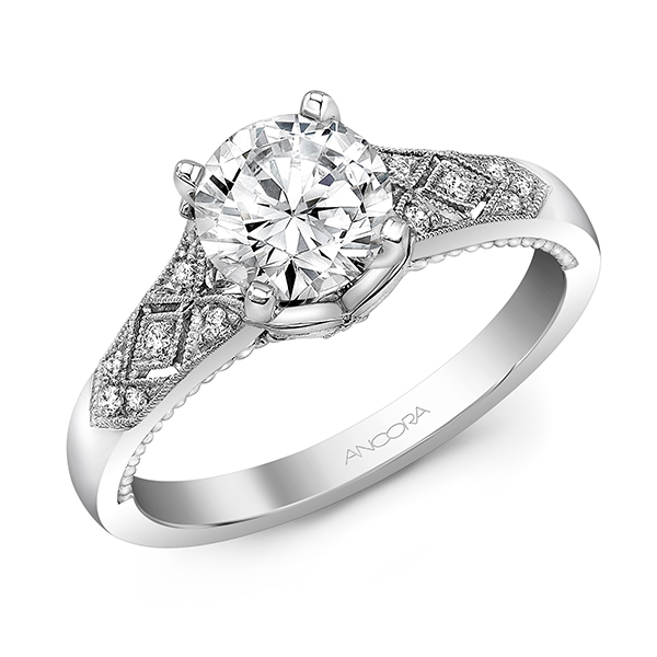 Vintage Style Diamond Ring by Ancora Designs