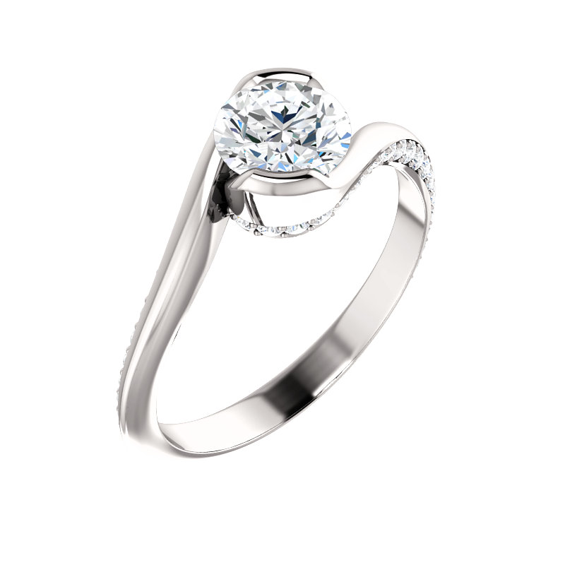 Bezel-Set Bypass Engagement Ring by Ever & Ever