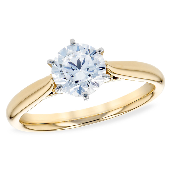 Yellow Gold Solitaire Ring by Allison Kaufman