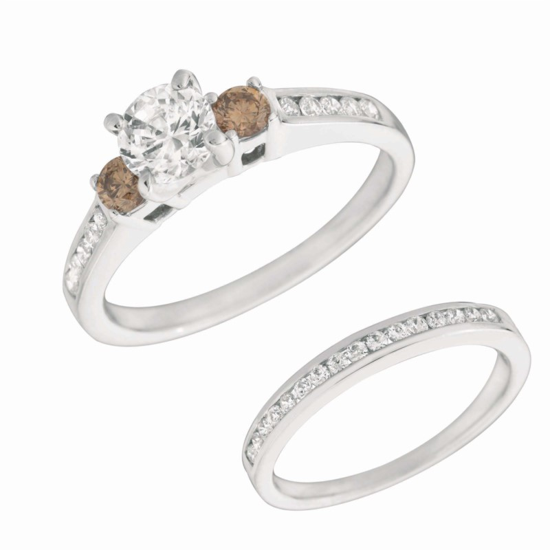Cognac Diamond Engagement Ring by Rarest Rainbow* by Pancis Gem