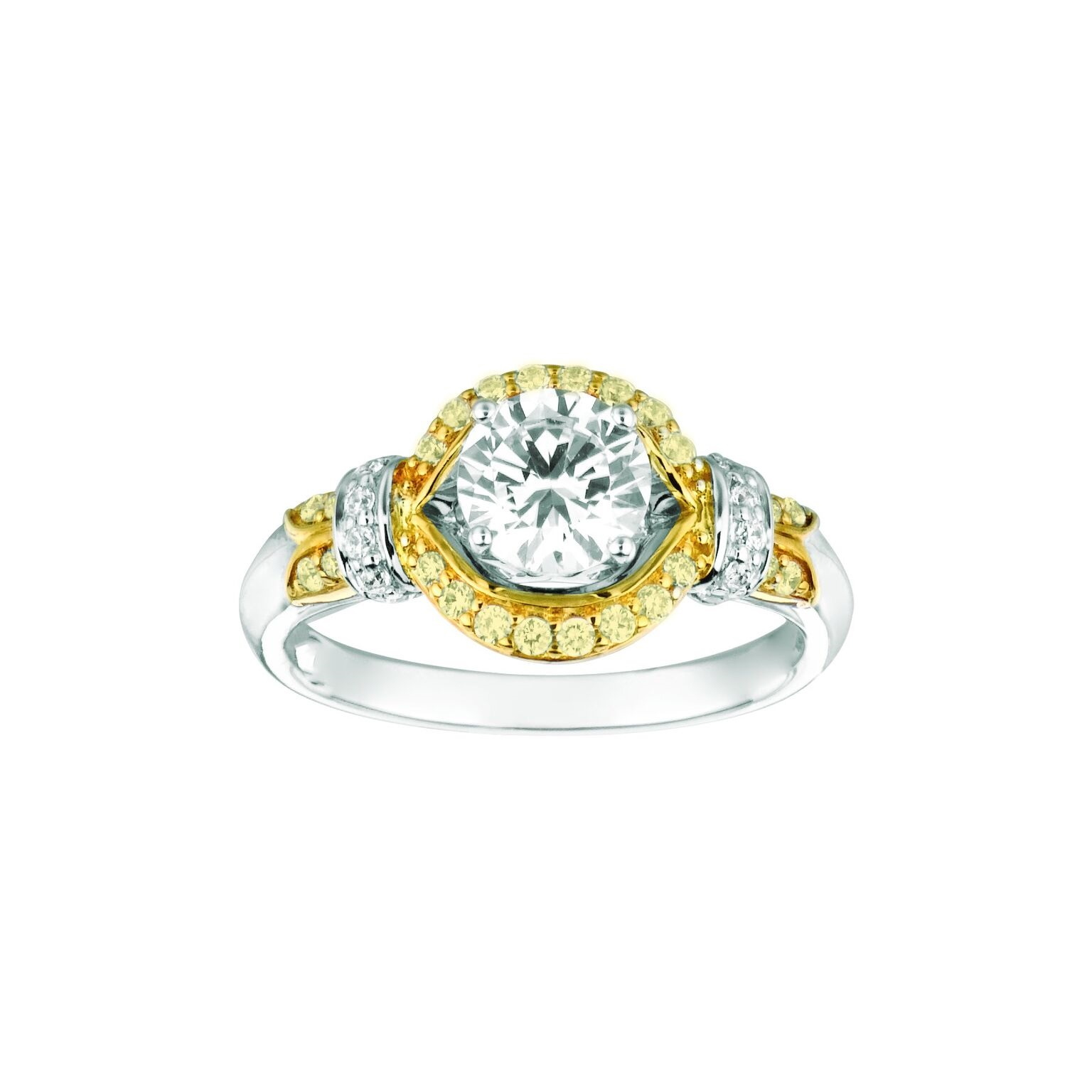 Natural Yellow Diamond Engagement Ring by Rarest Rainbow* by Pancis Gem