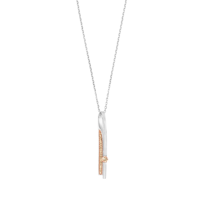 Contemporary Pendant With Natural Brown Diamonds by Gems By Pancis