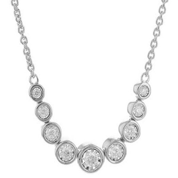 White Gold and Diamond Necklace by Allison Kaufman