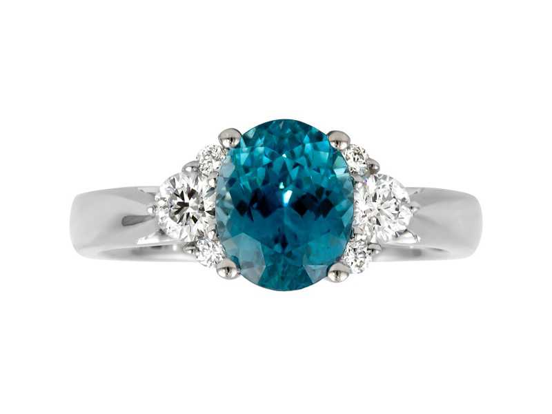 Blue Zircon Ring by Rego