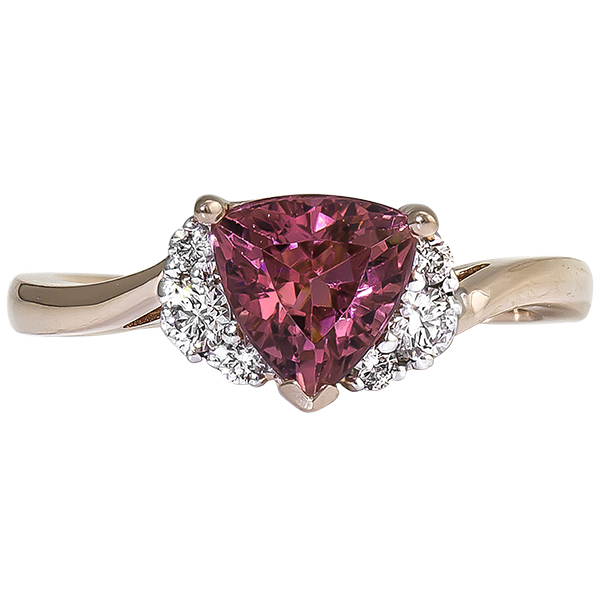 Rose Gold Pink Tourmaline Ring by Rego
