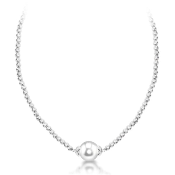 Shimmer Bead Pearl Necklace by Imperial Pearls