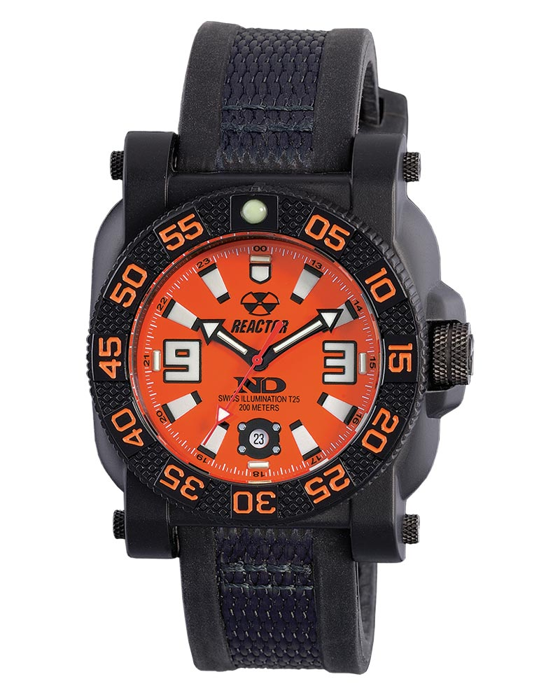 GRYPHON: Orange Dial Reactor Watch by Reactor Watch