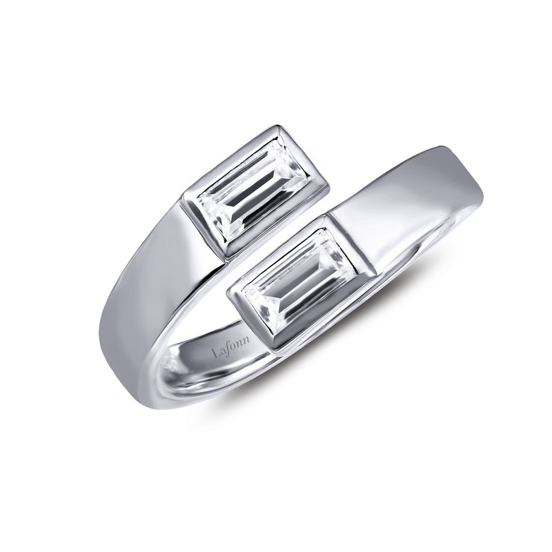Baguette By-Pass Ring by Lafonn